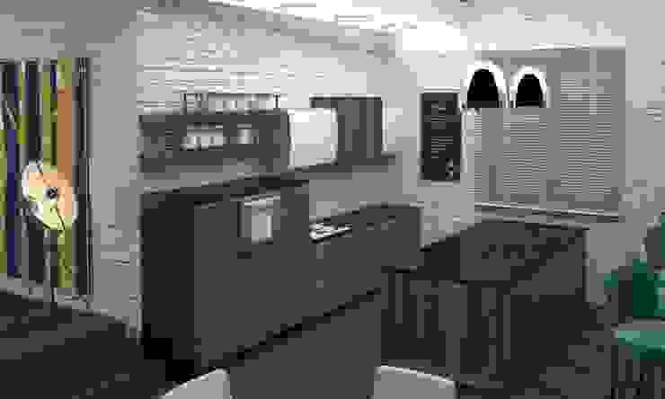 Студия в стиле лофт Кухня в стиле лофт от DS Fresco Лофт