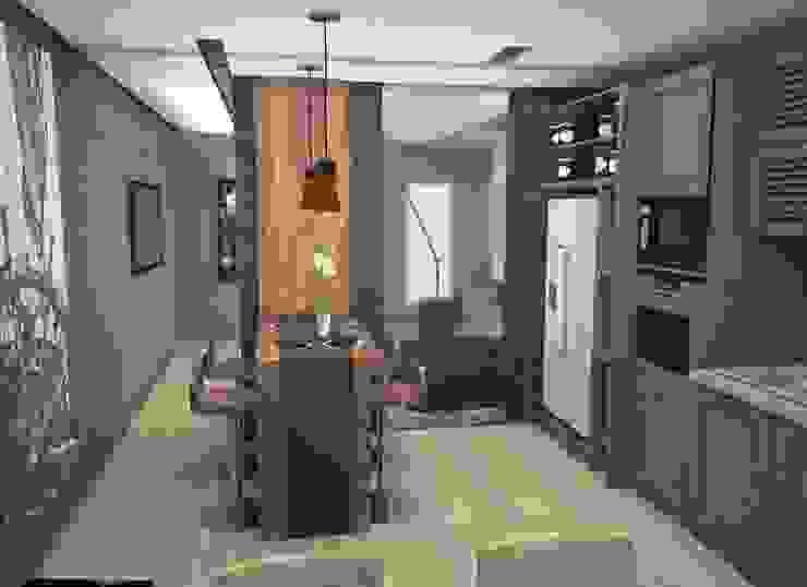 Квартира холостяка Кухня в стиле лофт от DS Fresco Лофт