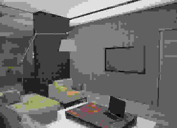 Квартира холостяка Гостиная в стиле лофт от DS Fresco Лофт