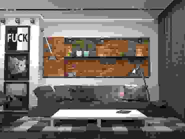 Двухкомнатная квартира Гостиная в стиле лофт от DS Fresco Лофт