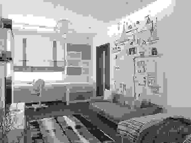 детские Детская комнатa в стиле минимализм от архитектор-дизайнер Алтоцкий Михаил (Altotskiy Mikhail) Минимализм