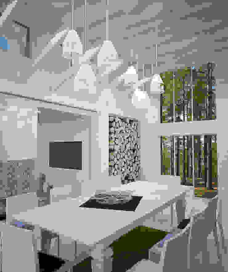 Scandinavian style dining room by DS Fresco Scandinavian