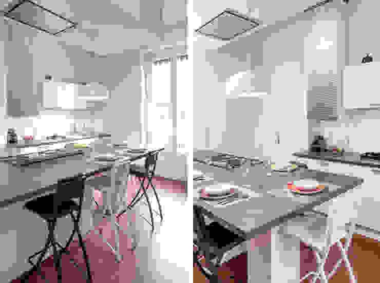 Rénovation d'un appartement haussmannien à Lyon 06 Cuisine moderne par Marion Lanoë Architecte d'Intérieur Moderne