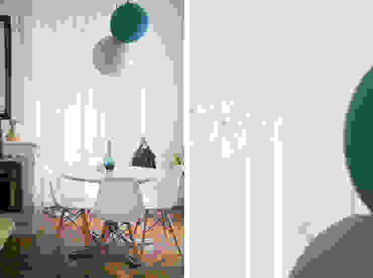 Aménagement et décoration d'un appartement à Lyon 01 Salle à manger scandinave par Marion Lanoë Architecte d'Intérieur Scandinave