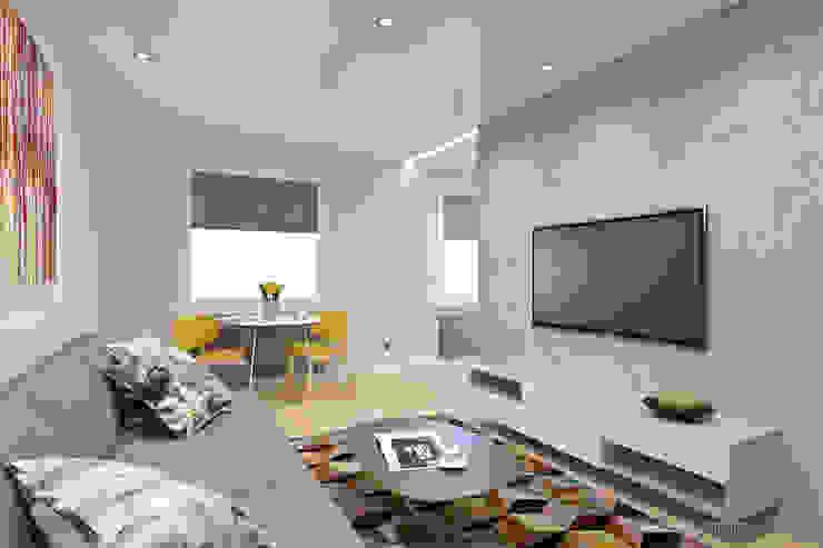 mieszkanie – Zakopane, Słoneczna – wizualizacja Nowoczesny salon od MIRAI STUDIO Nowoczesny