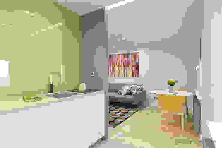 mieszkanie – Zakopane, Słoneczna – wizualizacja Nowoczesna kuchnia od MIRAI STUDIO Nowoczesny