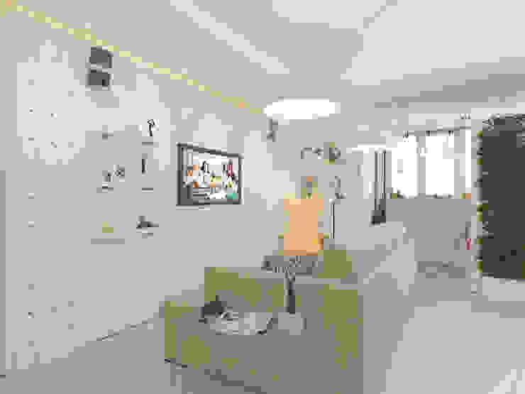 Современная квартира для молодой пары Гостиная в стиле лофт от Katerina Butenko Лофт