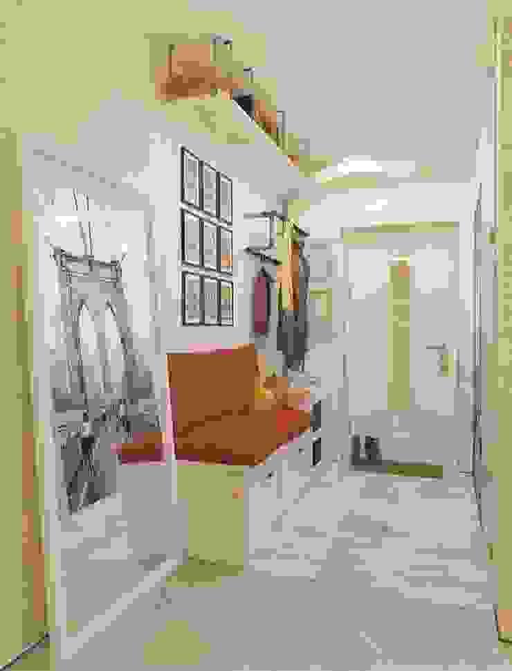 Современная квартира для молодой пары Коридор, прихожая и лестница в стиле лофт от Katerina Butenko Лофт