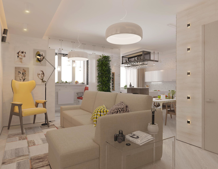 Living room by Katerina Butenko, Industrial