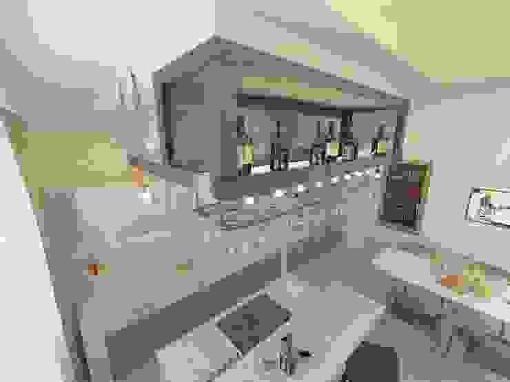Современная квартира для молодой пары Кухня в стиле лофт от Katerina Butenko Лофт