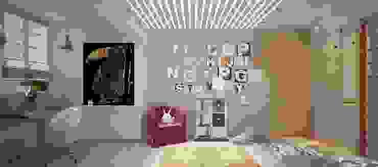 Современная квартира для молодой пары Детская комната в стиле лофт от Katerina Butenko Лофт