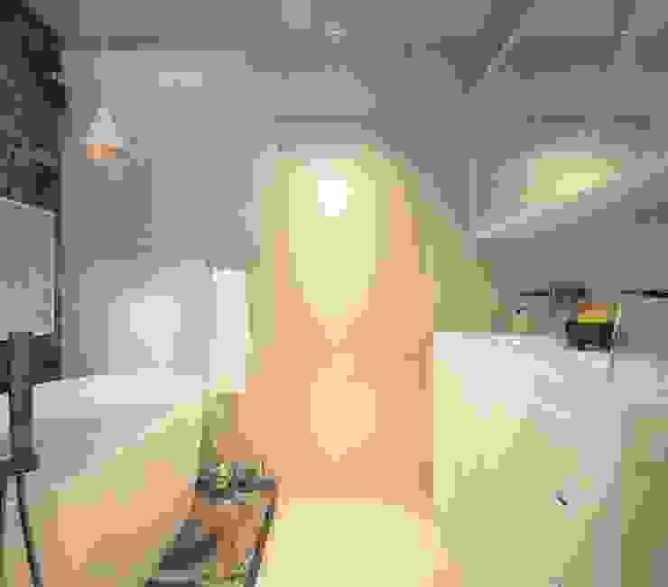 Современная квартира для молодой пары Ванная в стиле лофт от Katerina Butenko Лофт