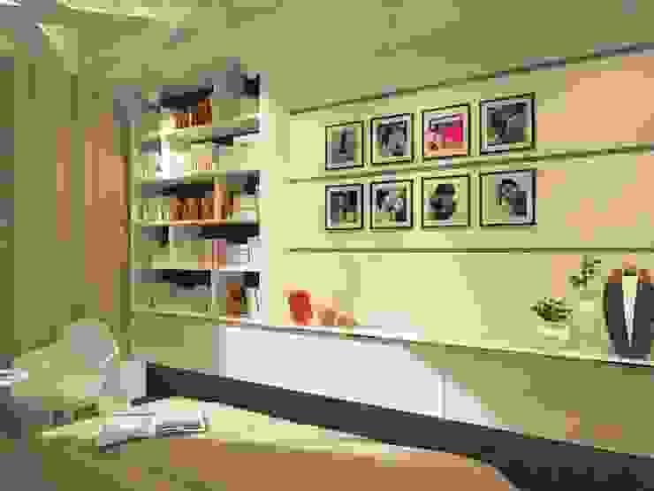 Современная квартира для молодой пары Спальня в стиле лофт от Katerina Butenko Лофт
