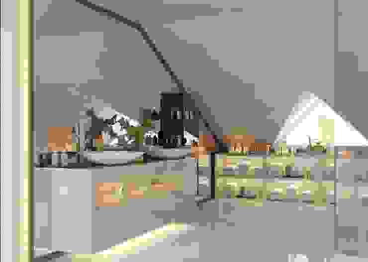 Ankarada bir ev Modern Banyo homify Modern