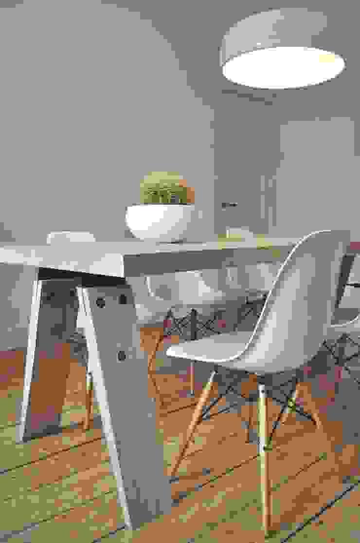 setting met brache eettafel: modern  door Marc Th. van der Voorn, Modern