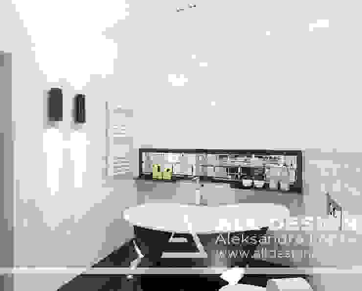 Projekt łazienki Nowoczesna łazienka od All Design- Aleksandra Lepka Nowoczesny
