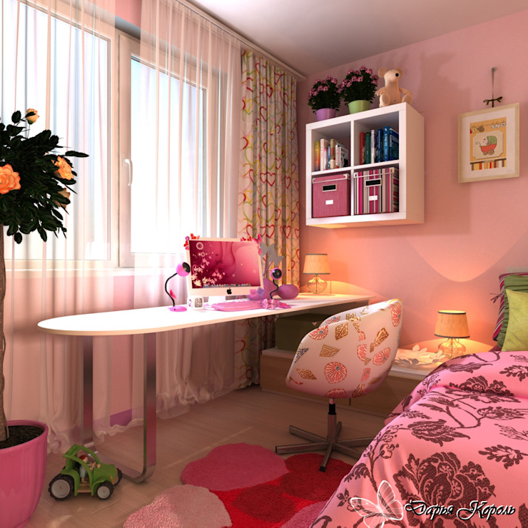 children's room for girls Детская комнатa в стиле минимализм от Your royal design Минимализм