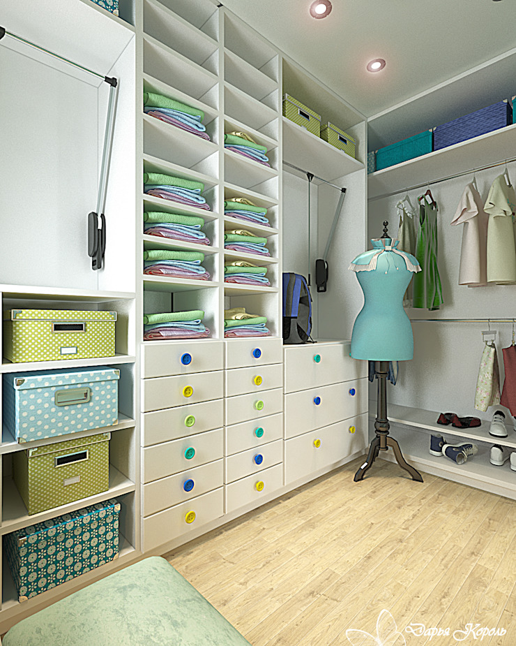Children's room for a girl with dressing room Гардеробная в классическом стиле от Your royal design Классический