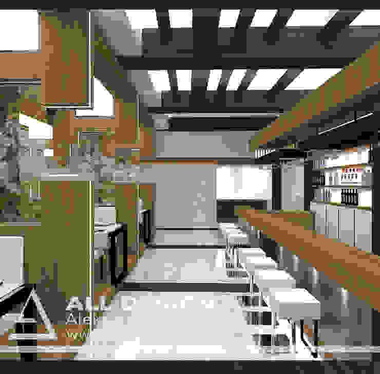 Projekt restauracji w Kaliszu od All Design- Aleksandra Lepka Nowoczesny