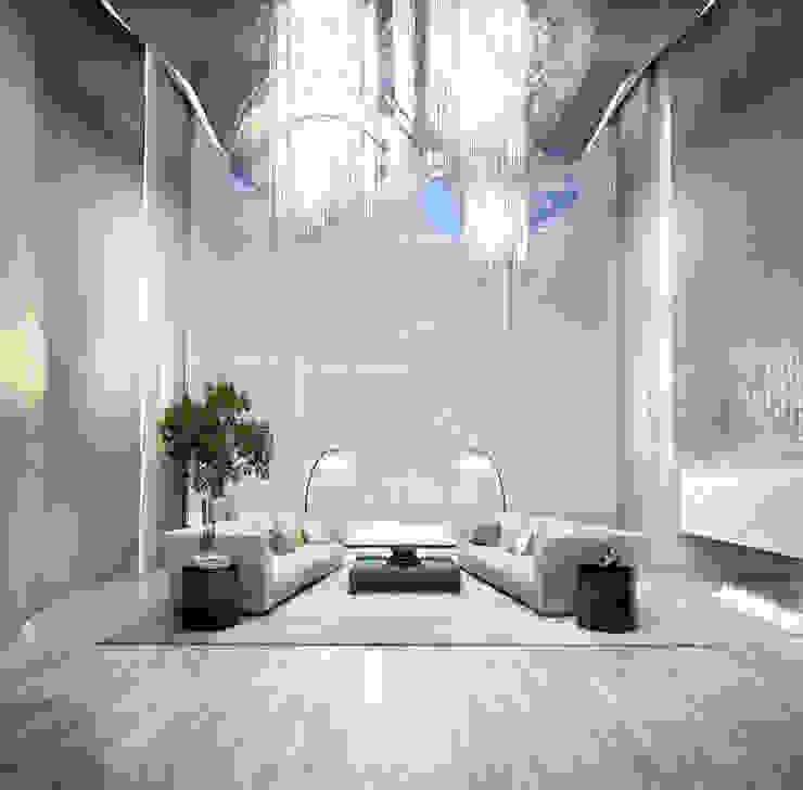 Bowmont Residence, LA, USA Гостиные в эклектичном стиле от NEUMARK Эклектичный