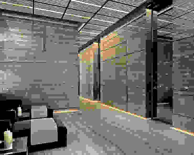 Bowmont Residence, LA, USA Коридор, прихожая и лестница в эклектичном стиле от NEUMARK Эклектичный