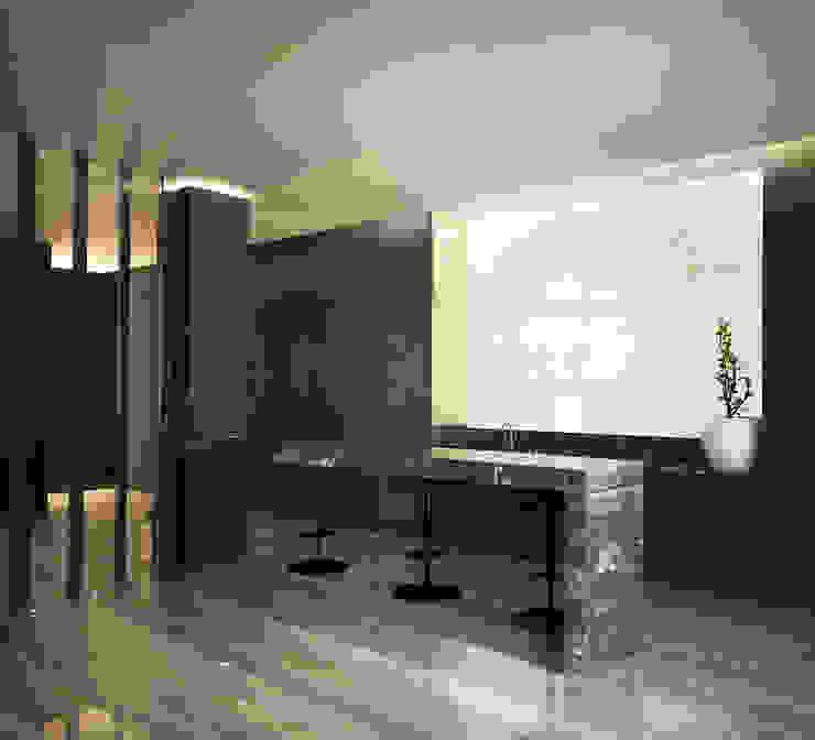 Bowmont Residence, LA, USA Медиа комнаты в эклектичном стиле от NEUMARK Эклектичный