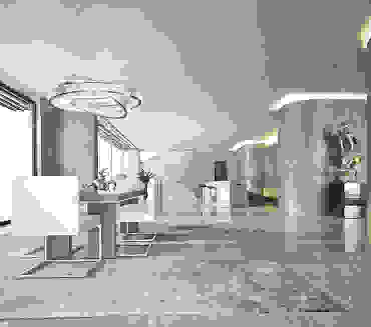 Bowmont Residence, LA, USA Столовая комната в эклектичном стиле от NEUMARK Эклектичный