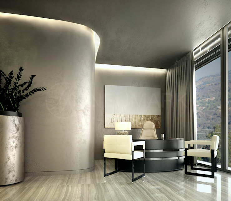 Bowmont Residence, LA, USA Рабочий кабинет в эклектичном стиле от NEUMARK Эклектичный