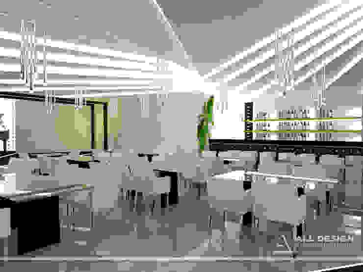 Projekt wnętrz restauracji Piano Baru od All Design- Aleksandra Lepka Nowoczesny