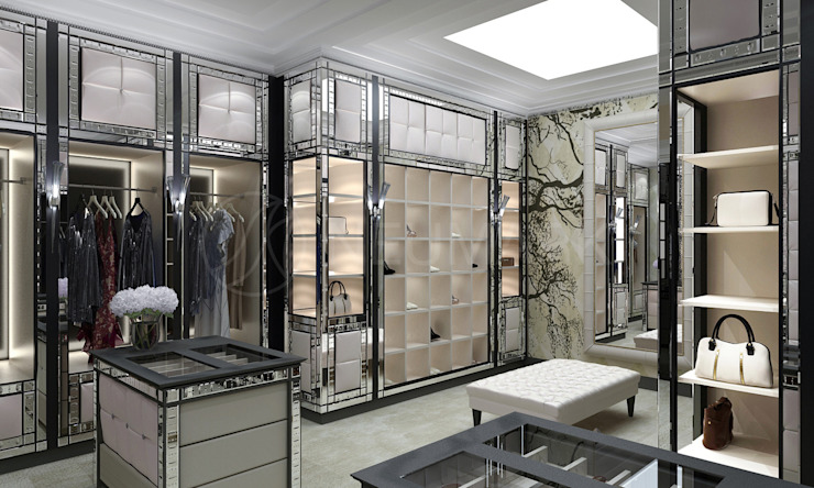 Wheatley Residence, NY, USA: Гардеробные в . Автор – NEUMARK, Эклектичный