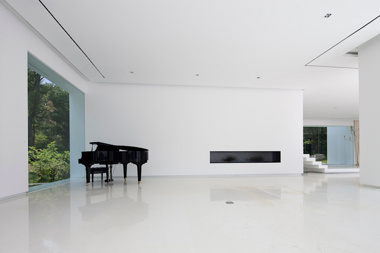 白의 집 _ 모던스타일 거실 by NEED21 ASSOCIATES 모던