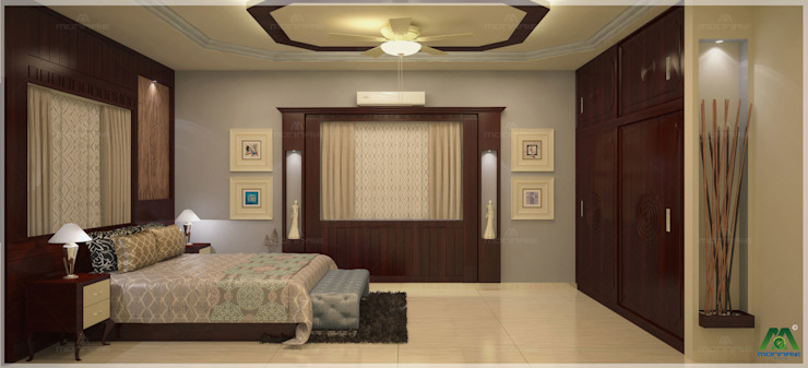 Monnaie Interiors Pvt Ltd ห้องนอน