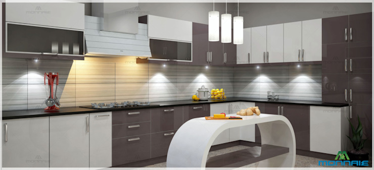 Kitchen Interior Design Monnaie Interiors Pvt Ltd 現代廚房設計點子、靈感&圖片