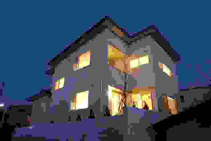 外観 オリジナルな 家 の 伊達剛建築設計事務所 オリジナル