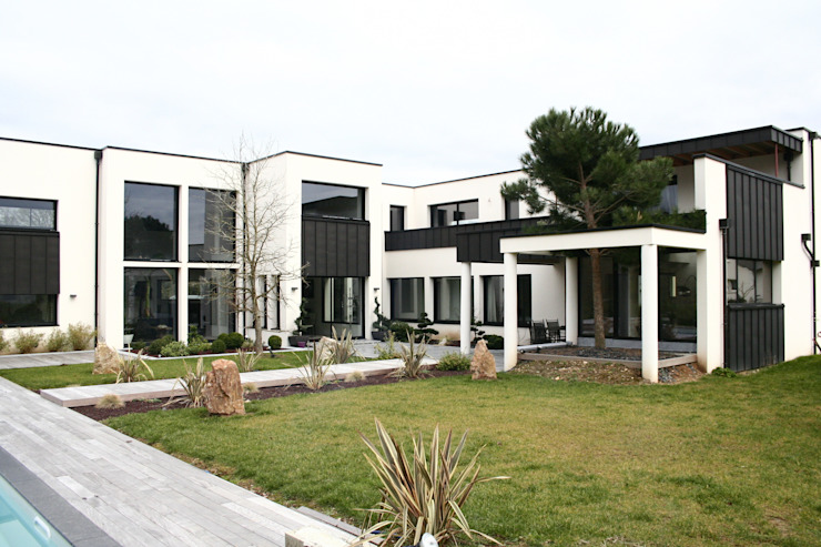 Modern Bahçe scp duchemin melocco architectes Modern