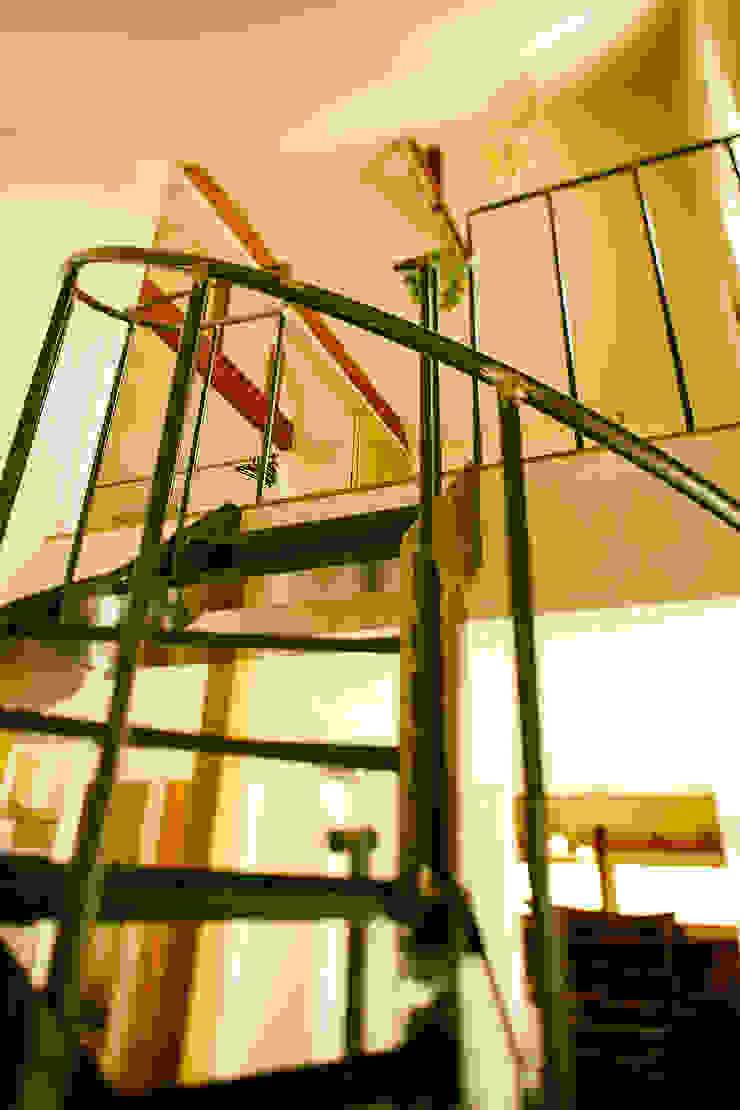 階段 モダンスタイルの 玄関&廊下&階段 の 石塚和彦アトリエ一級建築士事務所 モダン