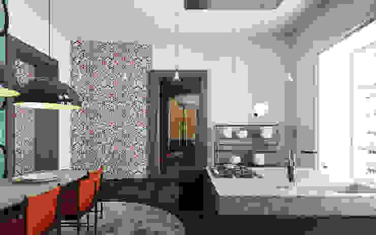 99m² fashion vintage Cuisine moderne par New Home Agency Moderne