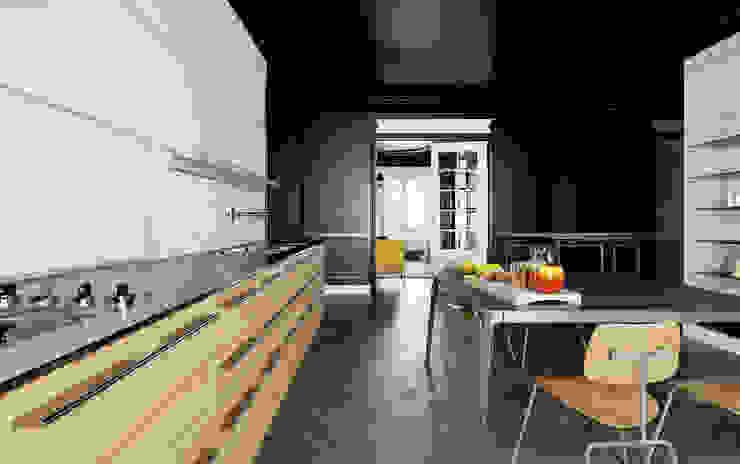 black baron haussmann Cuisine moderne par New Home Agency Moderne