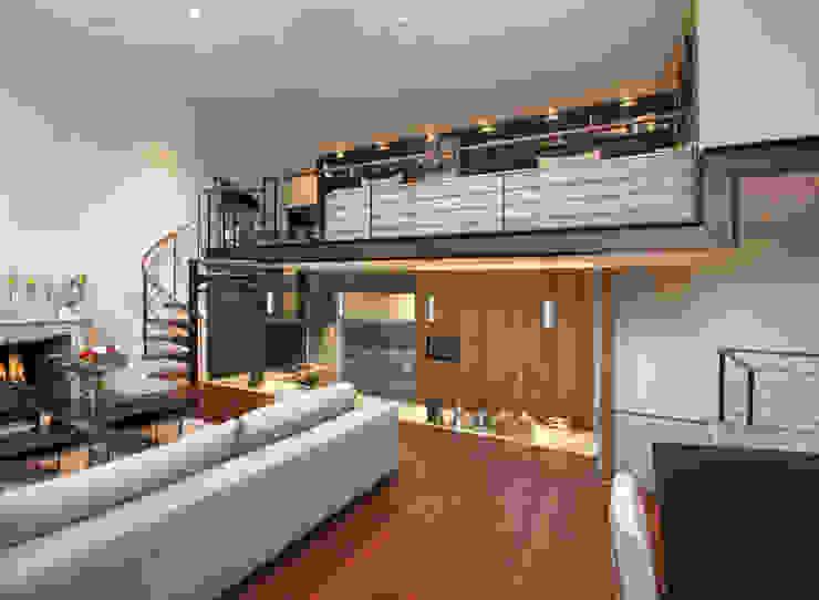 Open Plan Kitchen with Glass Wall Modern Kitchen by Elan Kitchens Modern