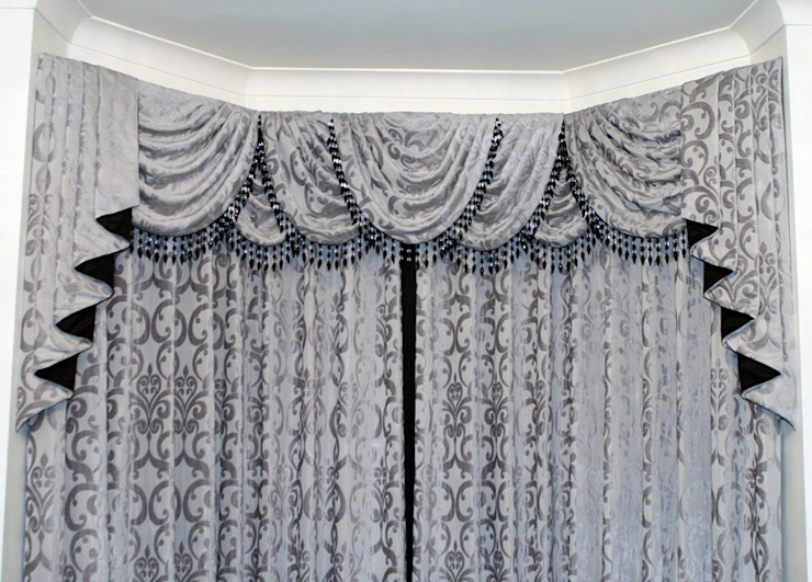 Jacquard Swags Curtain: classic  by Alf Onnie, Classic