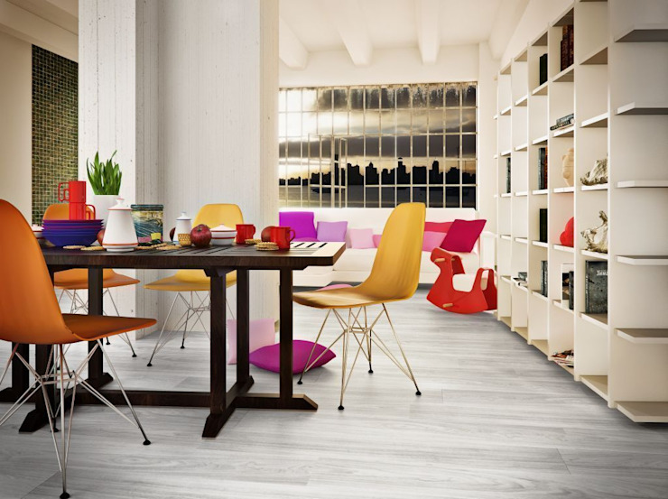 Elegance Arctic - White Oak Comedores de estilo minimalista de Supreme Floors Ibérica S.L. Minimalista