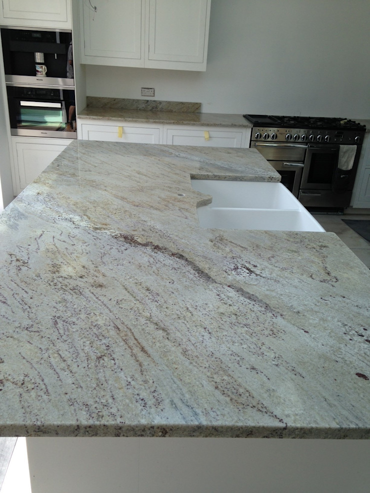 Ivory Fantasy Granite Worktops Classic style kitchen by Marbles Ltd Classic