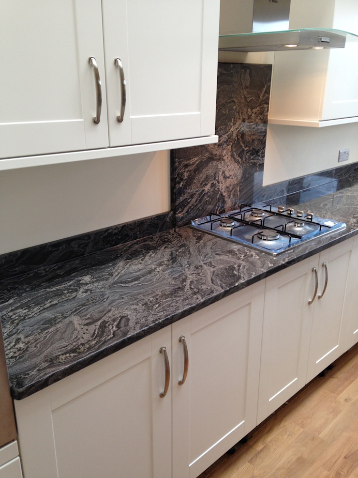 Silver Forest Granite Worktops Classic style kitchen by Marbles Ltd Classic
