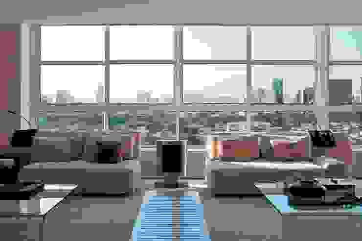 "Apto. Jardim Paulistano - ""Atemporal"" Salas de estar modernas por AMMA PROJETOS Moderno"