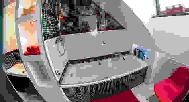 Metamorfoza łazienki Nowoczesna łazienka od Ewa Weber - Pracownia Projektowa Nowoczesny