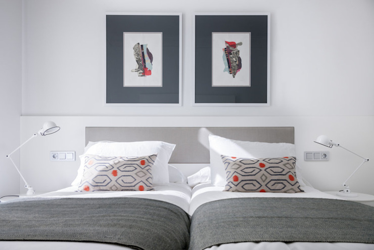 VIENDA CENTRO BILBAO SILVIA REGUERA INTERIORISMO Eclectic style bedroom