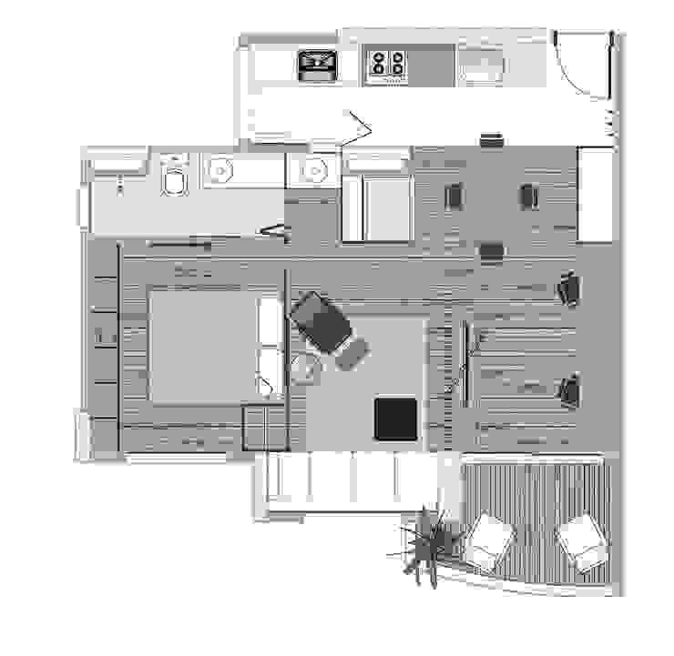 Interior | Apartamento - II por ARQdonini Arquitetos Associados
