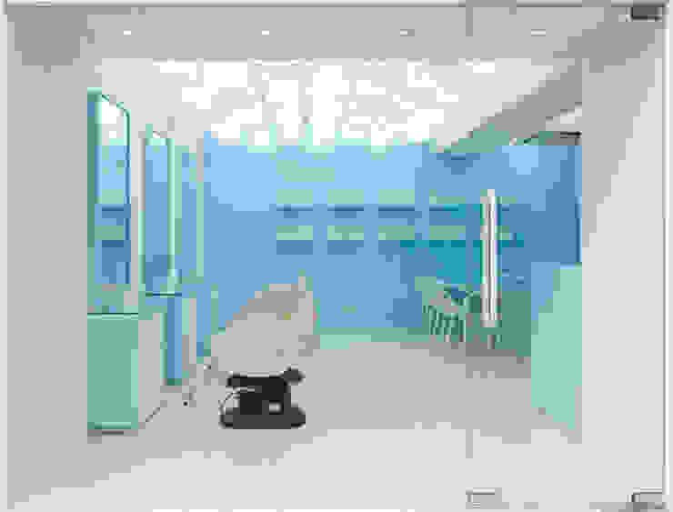 기존의 미장원과 다른 시원한느낌의 새로운 공간 by Design m4 미니멀