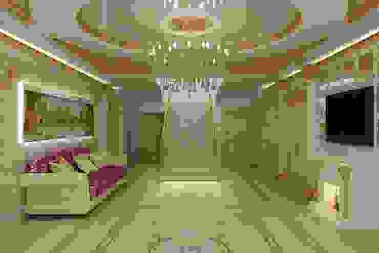 Дизайн холла в стиле Ампир Цунёв_Дизайн. Студия интерьерных решений. Коридор, прихожая и лестница в классическом стиле