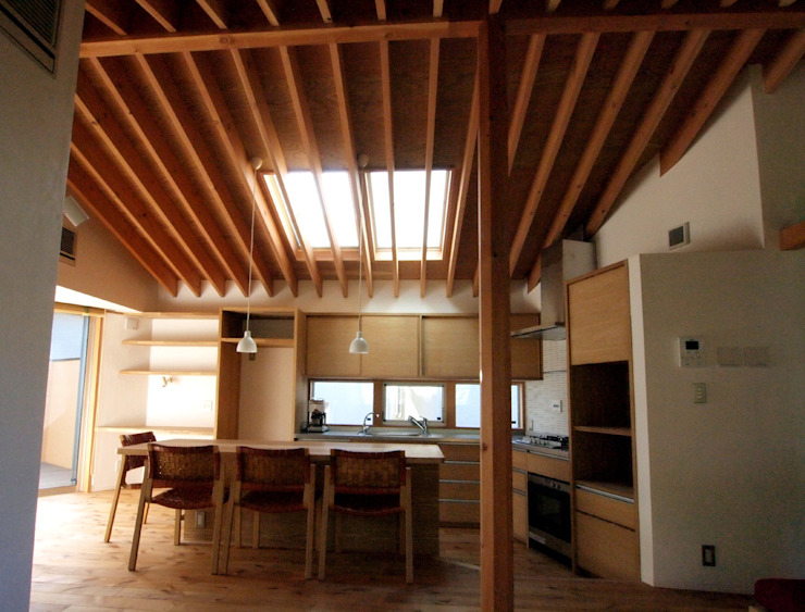 Eclectic style dining room by 有限会社エムテイ建築工房 Eclectic